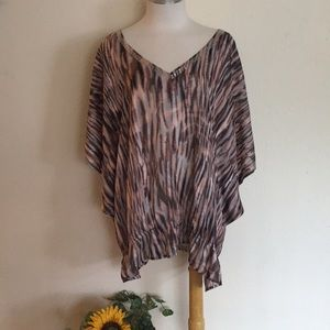 Lane Bryant Semi Sheer Split Sleeve Top
